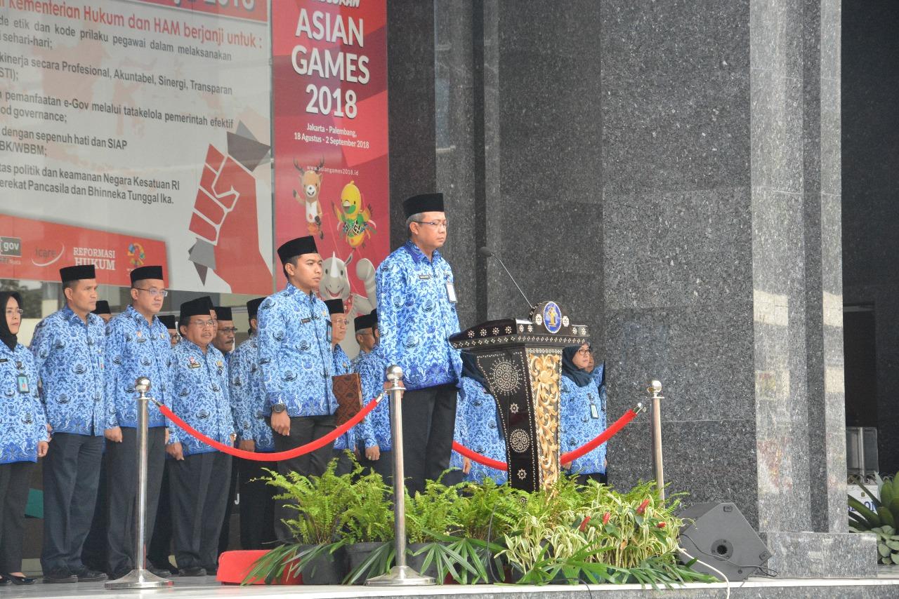Upacara Hari Kebangkitan Nasional Kementerian Hukum dan Ham