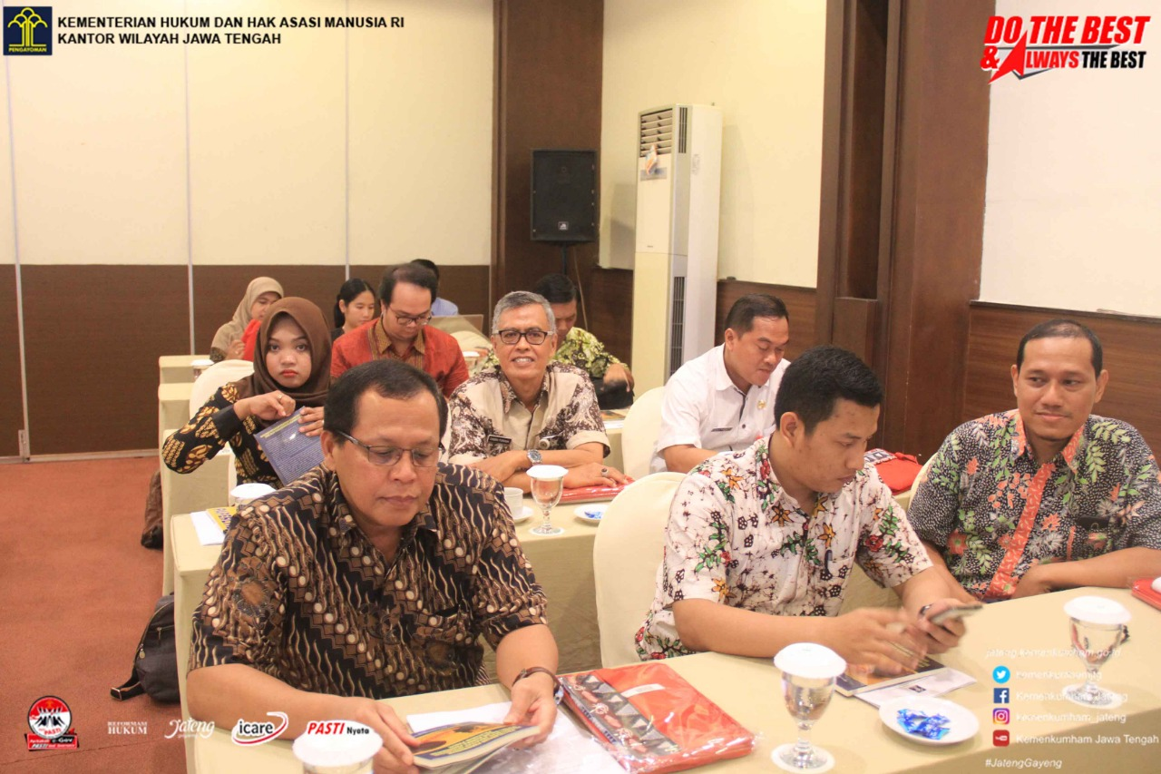 Kanwil Jawa Tengah Gelar Sosialisasi Penyelesaian Permohonan Pendaftaran Kekayaan Intelektual