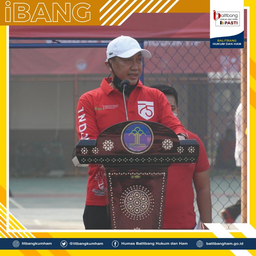 Kepala Balitbangkumham Hadiri Pembukaan Pekan Olahraga HUT Kemerdekaan RI Ke-75 di BPSDM