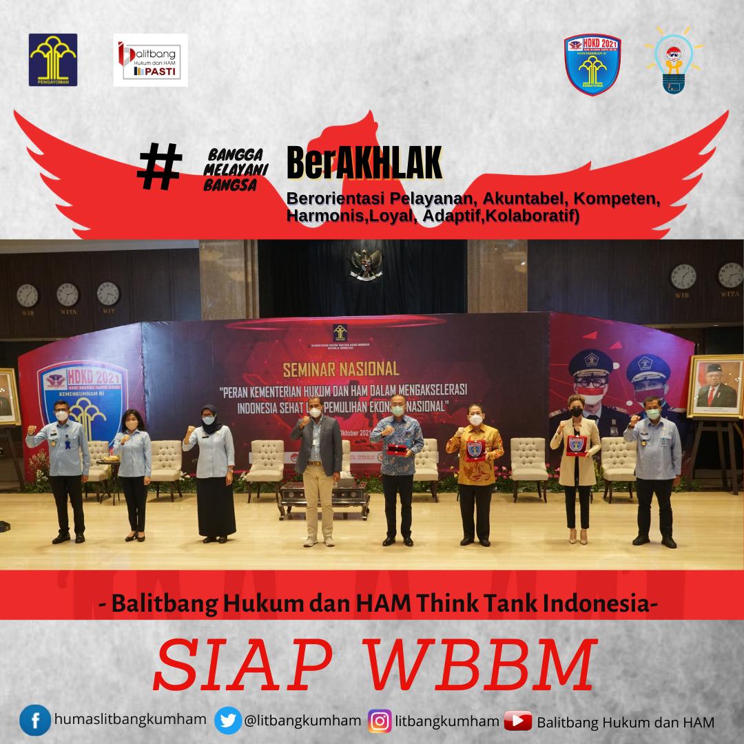 Peran Kementerian Hukum dan HAM dalam Mengakselerasi Indonesia Sehat dan Pemulihan Ekonomi Nasional