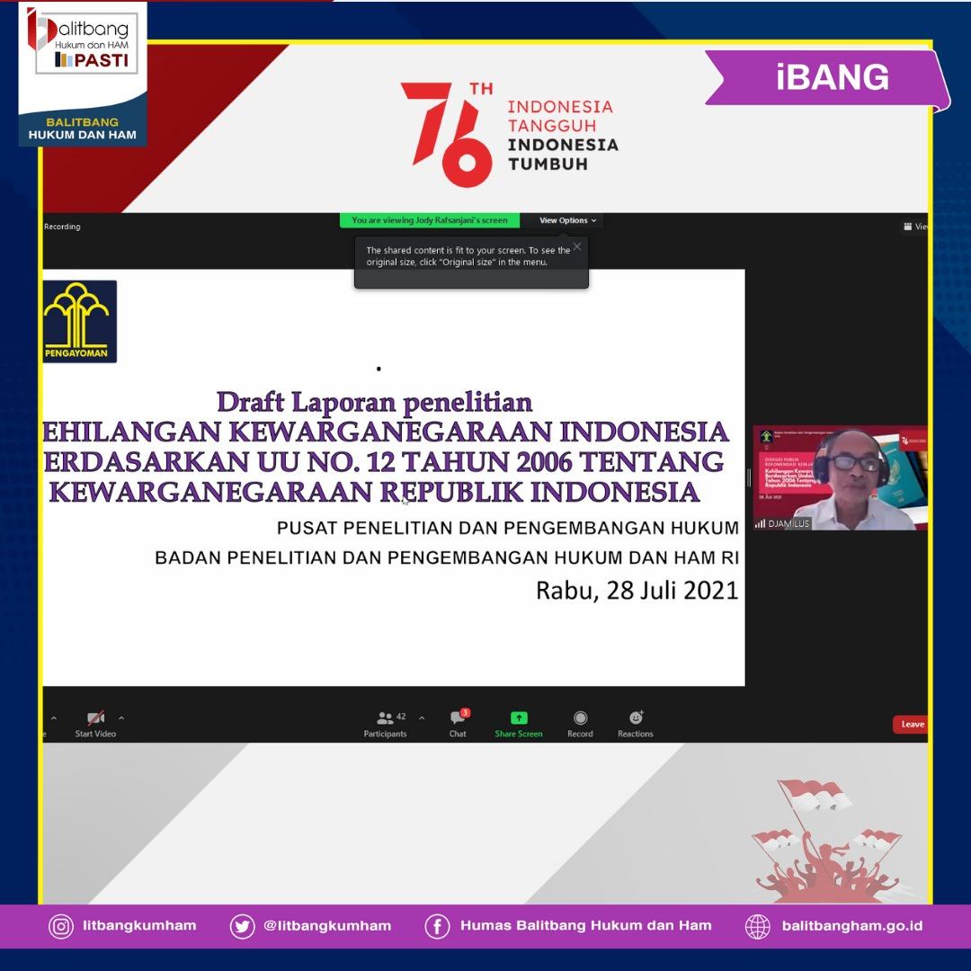 Kehilangan Kewarganegaraan Indoenesia Berdasarkan Undang-Undang-Undang Nomor 12 Tahun 2006 Tentang Kewarganegaraan Republik Indonesia